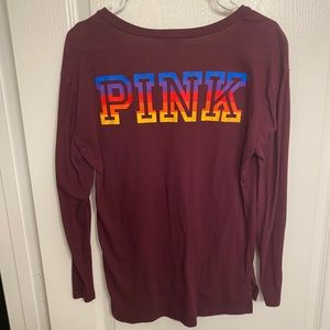 Size Small Vneck Long Sleeve PINK T-shirt